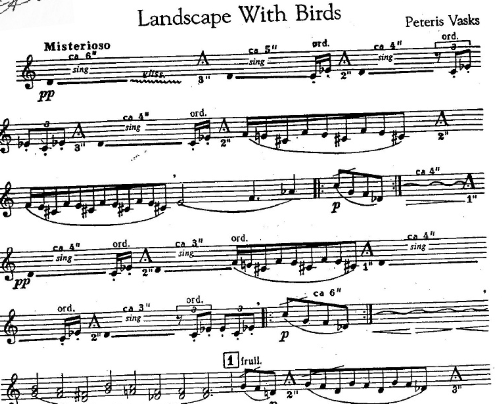 Washington State Recital Tour 1: Wenatchee - Landscape With Birds